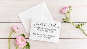 Curated Connections event invitation